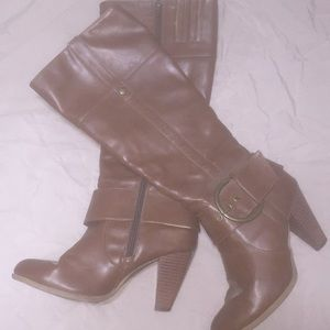 Shoes - Brown below the knee boots.